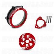 Ducabike Clear Clutch Cover Pressure Plate Kit For Panigale V4 V4s All Red