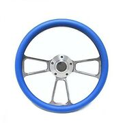 Club Car Golf Cart 14 Billet Sky Blue Steering Wheel Includes Horn And Adapter