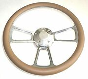 Harley Davidson Golf Cart 14 Tan Steering Wheel With Horn And Adapter