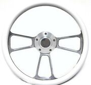 Harley Davidson Golf Cart 14 White Steering Wheel Includes Horn And Adapter