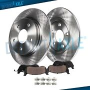 12 305mm Rear Brake Rotors + Brakes Pads For Chrysler Town And Country Journey