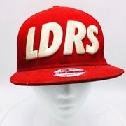 Ldrs 1354 Leaders New Era 9fifty Baseball Cap Hat Red Embroidered Snapback