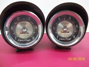 Vintage Chris Craft Tach Gauges With Canisters