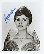 Sophia Loren Two Women Houseboat Actress Autograph Hand Signed 8x10 Photo
