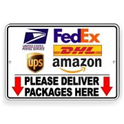 Deliver Packages Here Delivery Instruction Arrows Sign Metal 3 Sizes Usps Si87