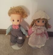 16 Vintage Andy And Annie Precious Moments Ozark Mountain Dolls 1989