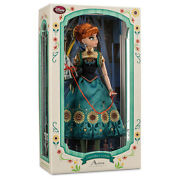 Disney Store Frozen Fever Anna Limited Edition Of 5000 17and039 Doll Brand New In Box