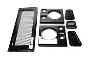 Land Rover Defender 90 / 110 Mesh Style Grille And Headlamp And Vent Surround Kit