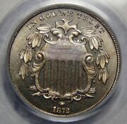 1872 Pcgs/cac Pr66 Cameo Shield Nickel