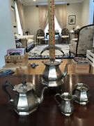 Rare Antique Sterling Silver J.e. Caldwell Tea/coffee Set Signed Made In England