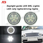 Chrome Led Halo Drl Rally Driving Lights For Mini Cooper S R56 R57 R58 R59 R60