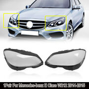 For Mercedes-benz E W212 2014-2015 Headlight Lamps Clear Lens Covers Shell 1pair