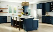 All Wood Rta 10x10 Transitional Classic Park Avenue Ocean Blue Kitchen Cabinets