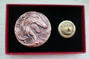 China 2018 Copper And Gold Plated Brass With Enamel Medals - Lunar Year Of Dog