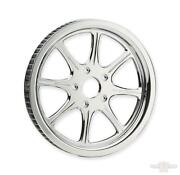 Chrome Meridian Drive Pulley 70 Tooth 1 1/2 1.5 Belt Revtech Usa Harley 1984-99