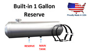 12x40 End Fill Spun Aluminum Gas Tank - 19 Gal Built-in 2 Gallon Reserve 3/8 Npt