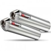 Yamaha 1300 Xjr-04/06- Pair Of Silent Oval Stainless Steel Scorpion-76407211