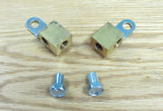 1955 Chevy Front Brake Line Brass Junction Tee Blocks Pair Usa Made