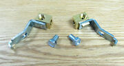 1956 1957 Chevy Front Brake Line Brass Junction Tee Blocks Pair Usa Made