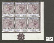 Turks Islands 1885-1895 Queen Victoria Blocks,sc 48a53,vf Mnhog See Pics