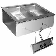 Eagle Group Sgdi-2-120t-d Drop-in Wet Or Dry Type Hot Food Well Unit - 120v
