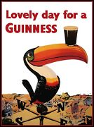 Art Print Poster / Vintage Guiness Lovely Day Beer Alcohol Drink