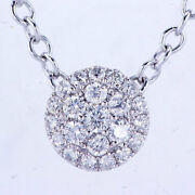 1.33ct Cluster Diamond Pendant F-g Si In 14k With Diamond By The Yard Necklace