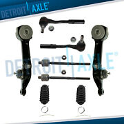 Front Lower Rearward Control Arms + Ball Joints + Inner And Outer Tie Rod Kit S430