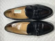 Alfred Sargent Adams Menand039s Genuine Black Leather Dress Shoes Size-10.5 D