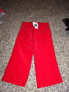 Nwt New Janie And Jack 18-24 Red Cord Pants Aspen Lodge