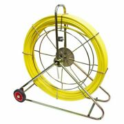Cobra Duct Rod Cable Reel Puller 11mm And 150m Long With Frame Fibreglass Rodding