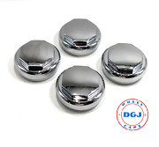 Hex Smooth Chrome Knock-off Spinner Cap For Lowrider Wire Wheels