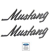 19691973 Mustang Chrome Fender And Trunk Letter Emblem New Mustang Script Pair
