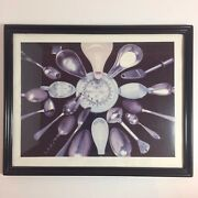 Vintage Framed Picture Of Pharmacy Pharmacistand039s Measuring Cups And Spoons 15