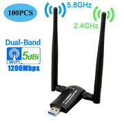 Lots 100x 1200mbps Ac1200 Dual Band 5ghz Wireless Usb 3.0 Wifi Adapter Antennas