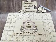 Personalised Wooden Cinderella Carriage Wedding Guest Book Jigsaw Puzzle