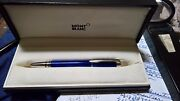 Cool Blue Fountain Pen With 14k 585 Gold Nib