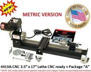 Sherline 4410a-cnc 3.5andprime X 17andprime Lathe Cnc Ready + Package A Metric Version