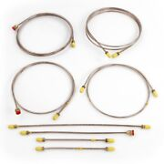 New Brake Pipe Set Triumph Tr3 Tr3a Tr3b Cars With Front Disc Brakes Ts13046 +