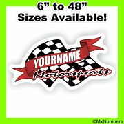Team Your Name Motorsports Trailer Race Graphic Flags Decal Mx Atv Dirt Bike