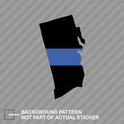 Rhode Island State Shaped The Thin Blue Line Sticker Police Support Ri V2