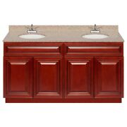 60 Vanity Cabinet Cherryville With Granite Top Wheat And Faucet Lb5b