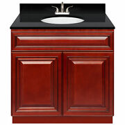 36 Vanity Cabinet Cherryville With Granite Top Absolute Black And Faucet Lb5b