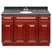 48 Vanity Cabinet Cherryville With Granite Top Blue Butterfly And Faucet Lb5b