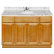 48 Vanity Cabinet Richmond With Granite Top Cara White And Faucet Lb5b