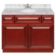42 Vanity Cabinet Cherryville With Granite Top Cara White And Faucet Lb5b