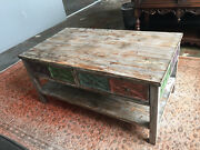 Antique Looking Reclaimed Wood Coffee Table 3.6' X 2' X 20''