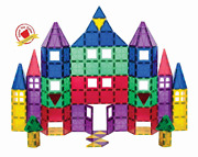 Playmags Magnetic Tile Playset 118 Piece Kids Build Play Learn Boys Girls Toys