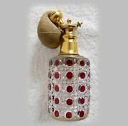 Dorflinger Ruby Cut To Clear Atomizer Perfume Bottle - Ca 1900