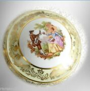 Limoges Dresser Box With Gold And Victorian Scene -